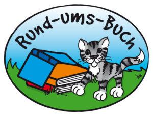 Katze mit Buch Logo_Rund_ums_Buch