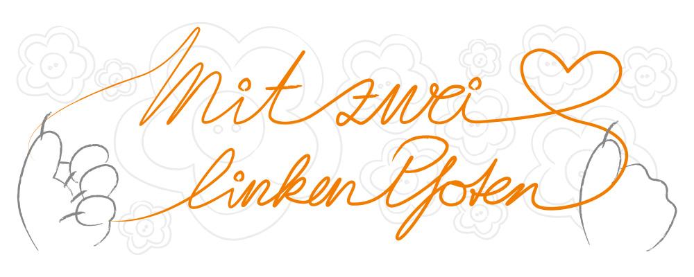Logo Mit zwei linken Pfoten