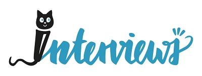 Katze mit Buch Logo Interviews